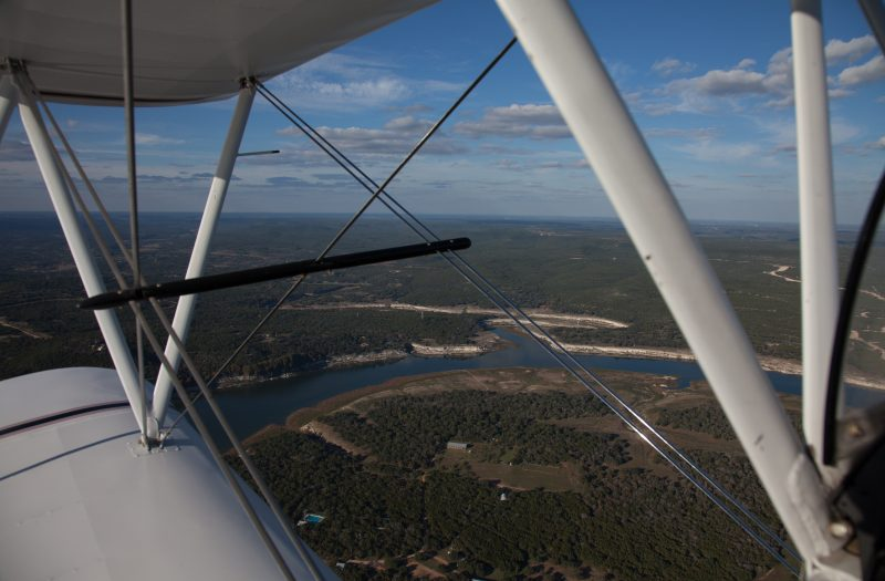 Lake Travis off the wing